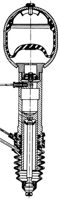 View of hydropneumatic strut and damper [9]
