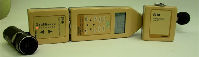 SON-50 sound level meter manufactured by Sonopan with module OF-50 and microphone  BRUEL & KJAER type 4189 and microphone SV 01A