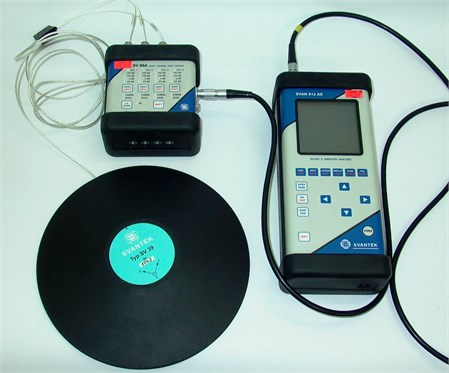 SVANTEK 912 vibration acceleration measuring and analysing set featuring the  SVANTEK SV 39 N 1043 module