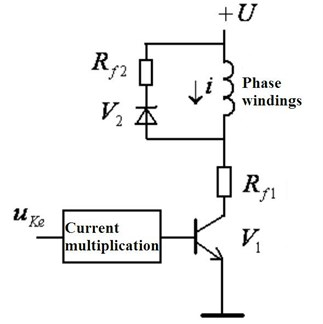 Stepping motor driver circuit of each phase windings