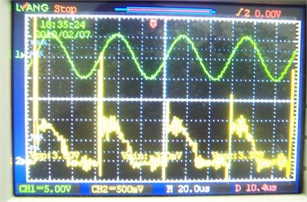 Ultrasound synchronous processing micro gear (voltage is 4 V)