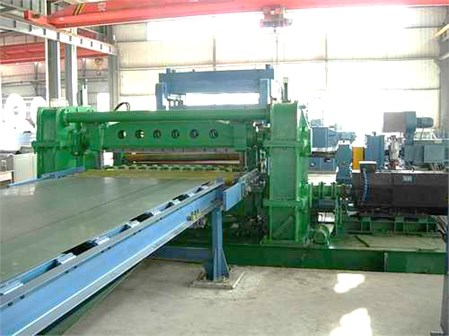The actual flying shear cutting system