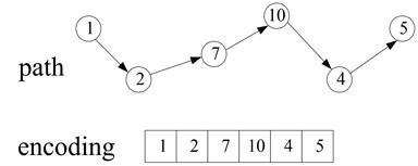 Example of chromosome encoding