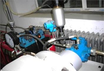 Experimental test plunger pump rig