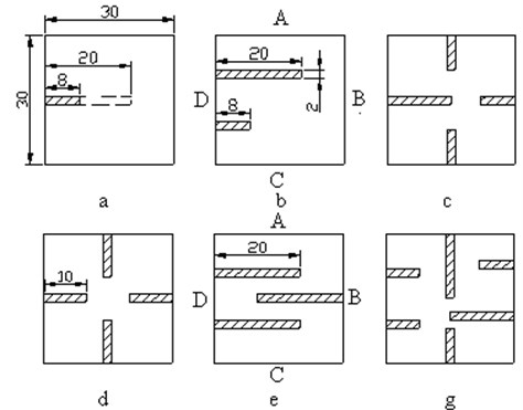 Modelling schemes of crack defects
