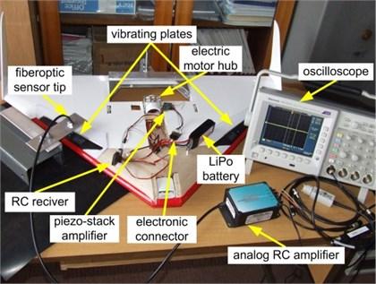 Piezo-generator measurements set-up