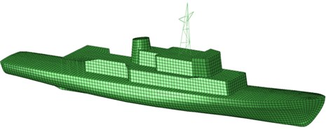The structure of hull geometry of the minehunter 206FM type