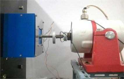 The electromagnetic vibration exciter for the experiment