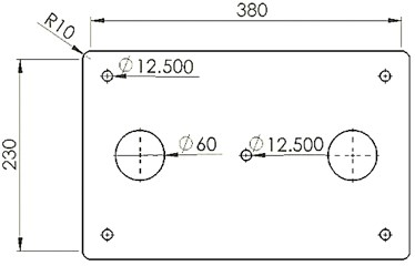 a) Design of a collecting plate, b) finite element model of a collecting plate