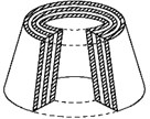 Examples of multilayer elastomeric structures
