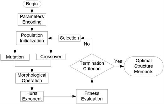 Flowchart of genetic morphological filter