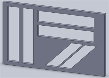 Stamp arrangement: a) on different metal sheet, b) on single metal sheet