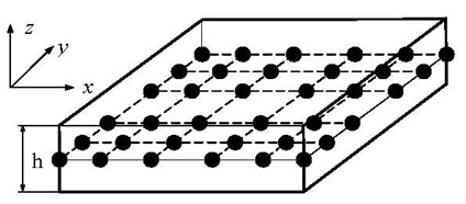 Sketches of spectral plate element: a) with a PZT layer, b) without a PZT layer