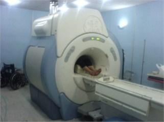 a) considered MRI throat dimensions, b) Imam-Khomeini Hospital MRI