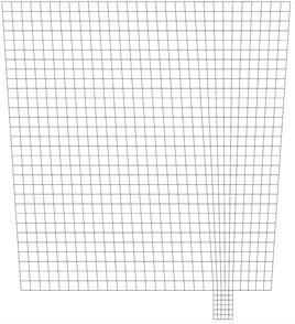 Computational mesh of the ladle