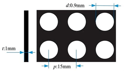 The square aligned and round perforation of the MPP