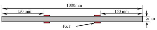 Schematic diagram of experimental specimen under 'Undamaged Condition'