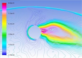 Distribution map of volume fraction of vapor phase on the turntable surface