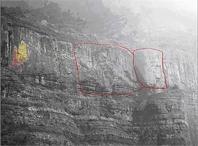 Images of dangerous rocks at present