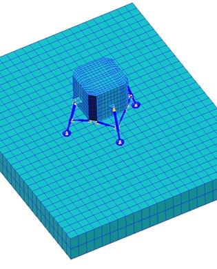 Finite element model  for soft-landing impacting
