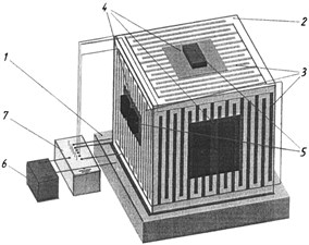 Picture of experimental equipment а) and scheme of electrostatic fixing device b)