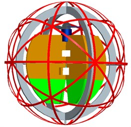 Schematic of spherical aerial vehicle's structure