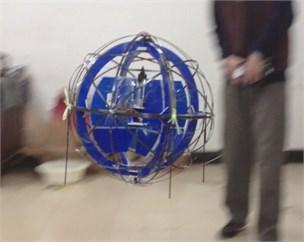 Spherical aerial vehicle in flight motion