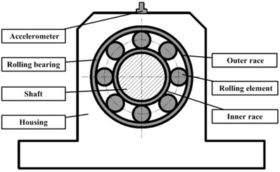 Typical structure of a rolling bearing