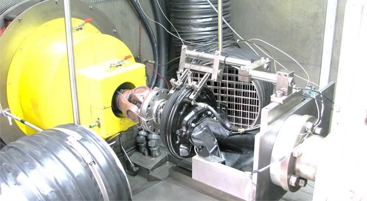 Brake dynamometer test setup