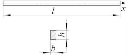 Dimension of the beam in simulation