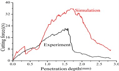 Results of experiment and simulation