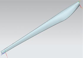 Blade solid model and finite element meshing model