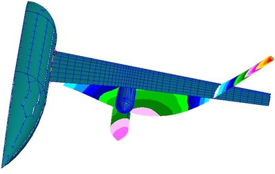 The mode shapes of the fuselage-wing-store model