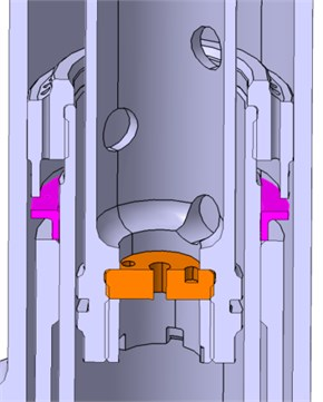 Schematic representation of shock strut