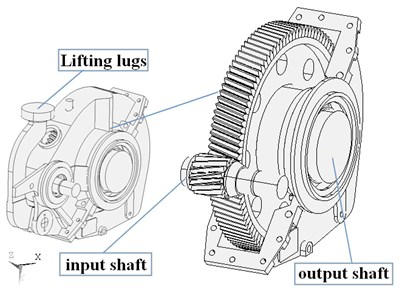 3D model of subway gearbox