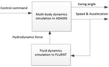 Structure of the simulation and calculation