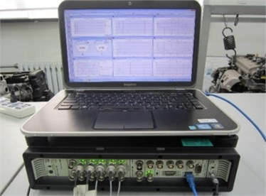 B&K vibration testing and analyzing system