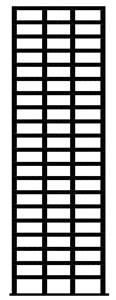 2D 20-story special R/C frame ID 1020, Haselton and Deierlein model [32]