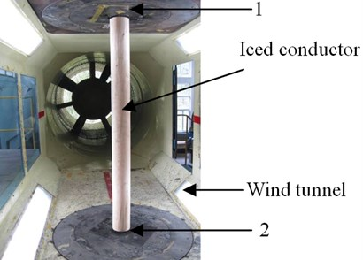 A typical photo in the tunnel test