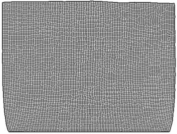 Diagram for 90 days of mesh deformation