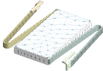 3-D model of the meshed movable part