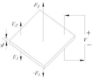 Structure of the piezoelectric ceramic