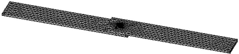 Original element mesh of the single lap encastre clinched joint