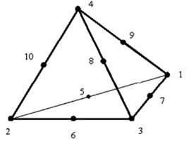 Tetrahedral finite element [9]