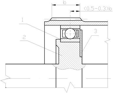 Cam generator: 1 – elastic bearing, 2 – wave generator cam, 3 – washer