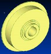 Cam generator: a) geometrical model, b) numerical model