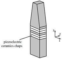 The diagrammatic sketch of single  Langevin vibrator of the VLUSM