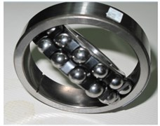 Ball bearing with: a) outer race defect, b) inner race defect, c) ball fault