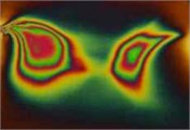 Photoelastic images representing stress distributions of samples of polymeric film of LDPE type of various thicknesses in unloaded and loaded conditions:  a), c), e), g), i), k), m) – photoelastic images representing distributions of stresses of samples of unloaded film of LDPE type; b), d), f), h), j), l), n) – photoelastic images representing distributions of stresses of samples of loaded film of LDPE type