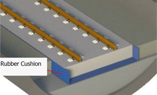 Structure of rubber cushion floating slab track bed